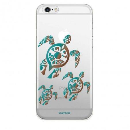 Coque iPhone 6 / 6S souple motif Famille Tortue - Crazy Kase