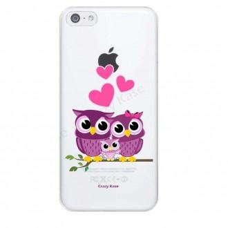 Coque iPhone 6 / 6S souple motif Famille Chouette - Crazy Kase