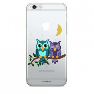 Coque iPhone 6 / 6s souple motif chouettes au clair de lune - Crazy Kase