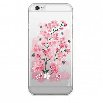 Coque iPhone 6 / 6s Transparente souple motif Fleurs de Cerisier - Crazy Kase