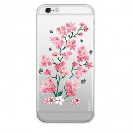 Coque iPhone 6 / 6s Transparente souple motif Fleurs de Sakura - Crazy Kase