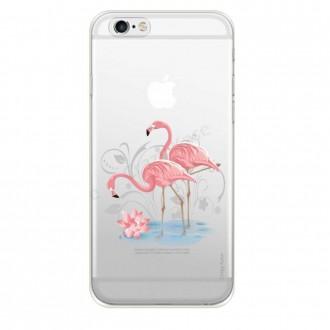 Coque compatible iPhone 6 Plus / 6s Plus souple Flamant rose -  Crazy Kase