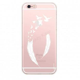 Coque iPhone 6 Plus / 6s Plus souple motif Plume et envol d'oiseaux - Crazy Kase