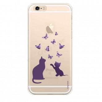 Coque iPhone 6 Plus / 6s Plus souple Chaton jouant avec papillon - Crazy Kase