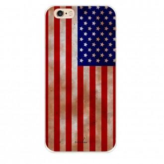 Coque iPhone 6 Plus / 6s Plus souple motif Drapeau Américain - Crazy Kase