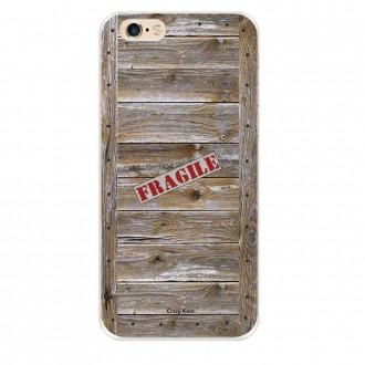 Coque iPhone 6 Plus / 6s Plus souple effet Caisse en bois - Crazy Kase