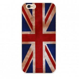 Coque iPhone 6 Plus / 6s Plus souple motif Drapeau UK vintage - Crazy Kase