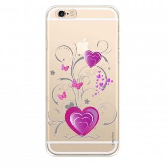 Coque iPhone 6 Plus / 6s Plus souple motif Cœur et papillon - Crazy Kase