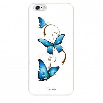 Coque iPhone 6 Plus / 6s Plus souple motif Papillon et Arabesque sur fond blanc - Crazy Kase