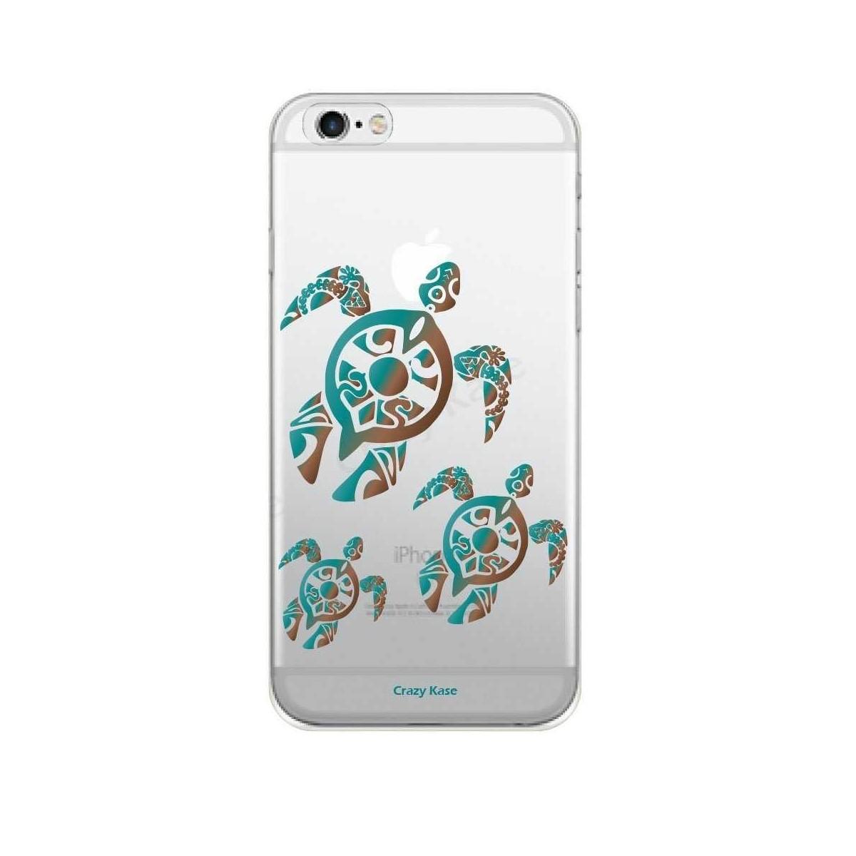 Coque iPhone 6 Plus / 6S Plus souple motif Famille Tortue - Crazy Kase
