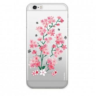 Coque iPhone 6 Plus / 6s Plus Transparente souple motif Fleurs de Sakura - Crazy Kase