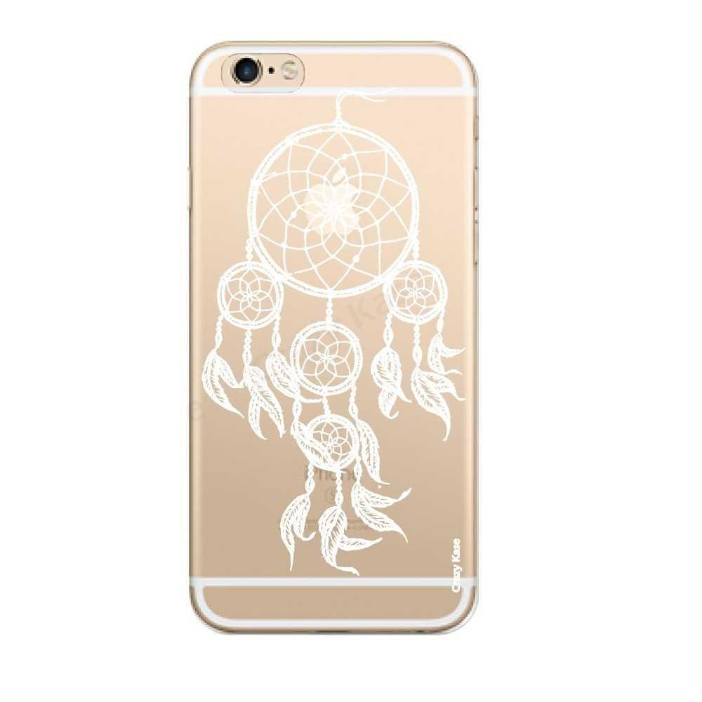 Coque iPhone 6 Plus / 6s Plus Transparente souple motif Attrape Rêves Blanc - Crazy Kase