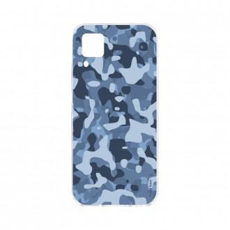 Coque pour Huawei P40 Lite souple Camouflage militaire bleu Crazy Kase