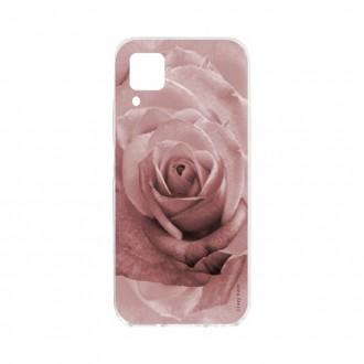 Coque pour Huawei P40 Lite souple Fleur Rose en rose pastel Crazy Kase