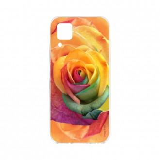 Coque pour Huawei P40 Lite souple Rose fleur colorée Crazy Kase