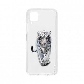 Coque pour Huawei P40 Lite souple Tigre blanc Crazy Kase