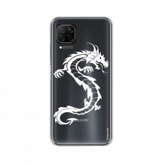 Coque pour Huawei P40 Lite souple Dragon Blanc Crazy Kase