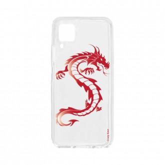 Coque pour Huawei P40 Lite souple Dragon rouge Crazy Kase