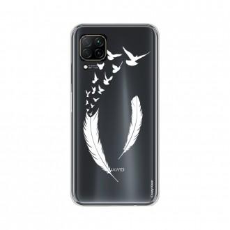 Coque pour Huawei P40 Lite souple Plume et envol d'oiseaux Crazy Kase