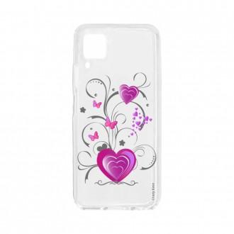 Coque pour Huawei P40 Lite souple Coeur et papillon Crazy Kase
