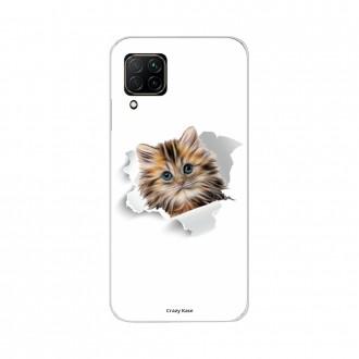 Coque pour Huawei P40 Lite souple Chat trop mignon Crazy Kase