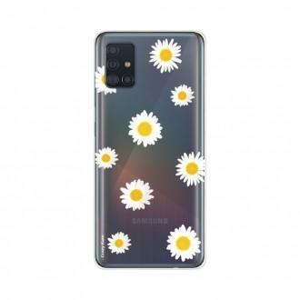 Coque pour Samsung Galaxy A51 souple Marguerite Crazy Kase