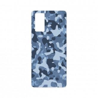 Coque Samsung Galaxy S20 souple Camouflage militaire bleu Crazy Kase