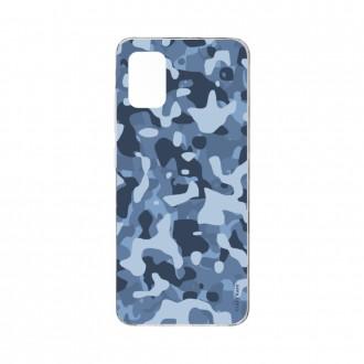 Coque Samsung Galaxy A71 souple Camouflage militaire bleu Crazy Kase