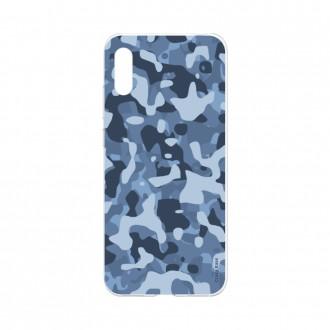 Coque Huawei Y6 2019 souple Camouflage militaire bleu Crazy Kase