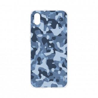 Coque Huawei Y5 2019 souple Camouflage militaire bleu Crazy Kase