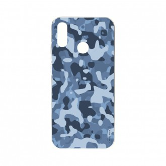 Coque Huawei P Smart 2019 souple Camouflage militaire bleu Crazy Kase