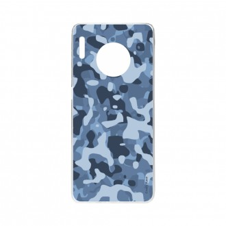 Coque Huawei Mate 30 Pro souple Camouflage militaire bleu Crazy Kase