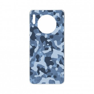 Coque Huawei Mate 30 souple Camouflage militaire bleu Crazy Kase