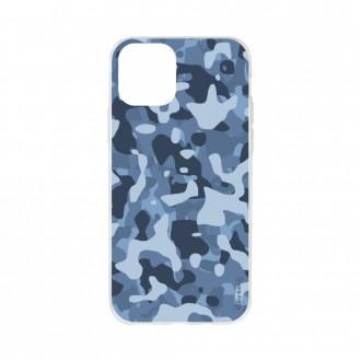 Coque iPhone 11 Pro Max souple Camouflage militaire bleu Crazy Kase