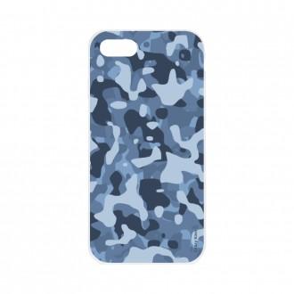 Coque iPhone 7 souple Camouflage militaire bleu Crazy Kase