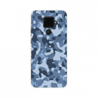 Coque Huawei Mate 30 Lite souple Camouflage militaire bleu Crazy Kase