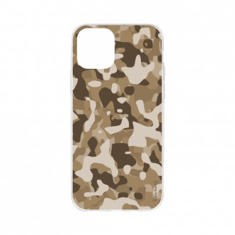 Coque iPhone 11 souple Camouflage militaire désert Crazy Kase
