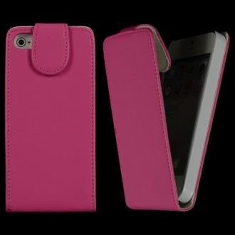 Housse rose ouverture verticale aimantée pour iPhone 5