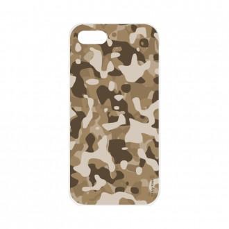 Coque iPhone SE (2020) souple Camouflage militaire désert Crazy Kase
