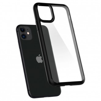 Spigen Coque iPhone 11 Ultra Hybrid noir mat