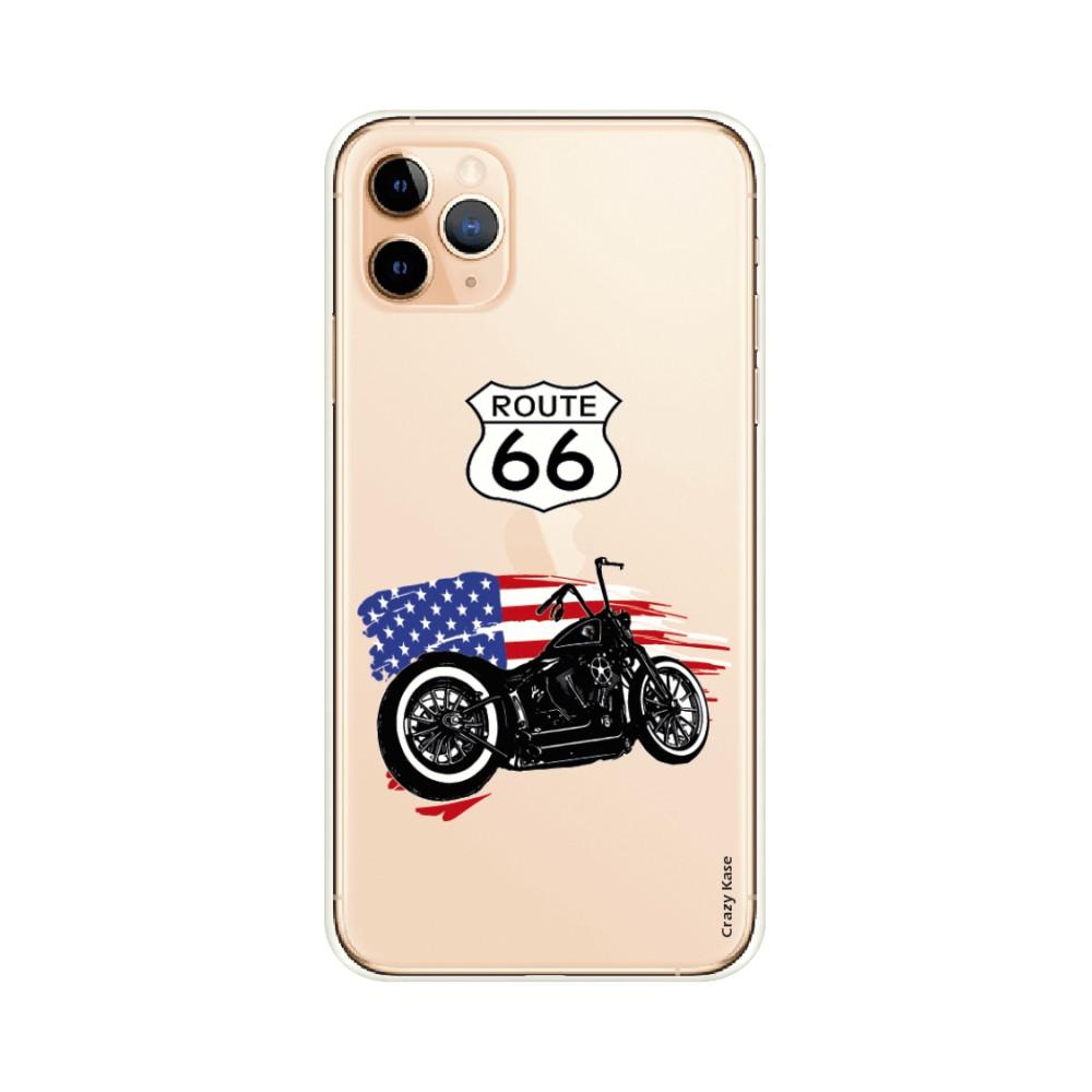Coque pour iPhone 11 Pro Max souple Moto Harley Davidson - Crazy Kase