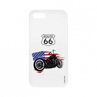 Coque pour iPhone SE (2020) souple Moto Harley Davidson - Crazy Kase