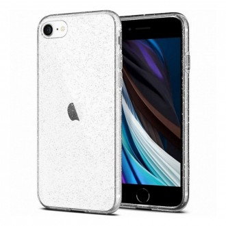 Coque iPhone SE (2020) transparente Spigen Liquid Crystal Glitter