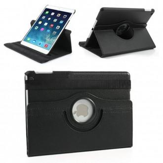 Etui iPad 6ème génération (2018) Rotatif 360° Noir uni Crazy Kase