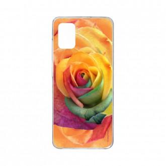 Coque pour Samsung Galaxy A41 souple Rose fleur colorée Crazy Kase