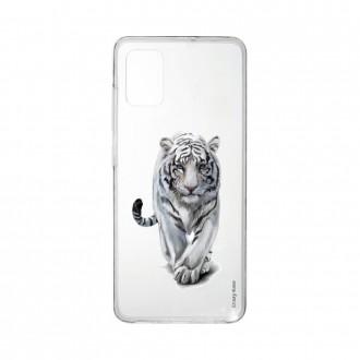 Coque pour Samsung Galaxy A41 souple Tigre blanc Crazy Kase