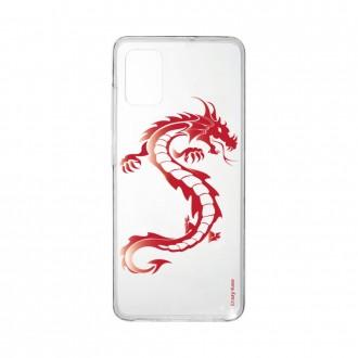 Coque pour Samsung Galaxy A41 souple Dragon rouge Crazy Kase