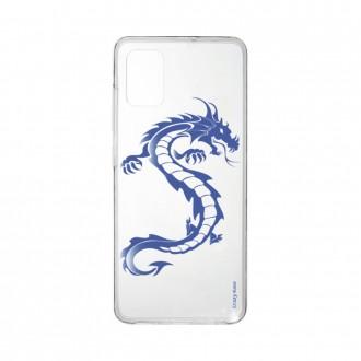 Coque pour Samsung Galaxy A41 souple Dragon bleu Crazy Kase