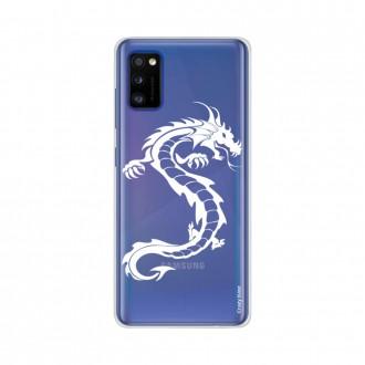 Coque pour Samsung Galaxy A41 souple Dragon blanc Crazy Kase