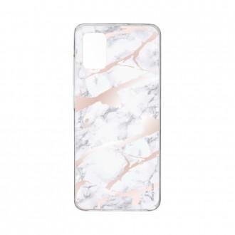 Coque pour Samsung Galaxy A41 souple effet Marbre rose Crazy Kase